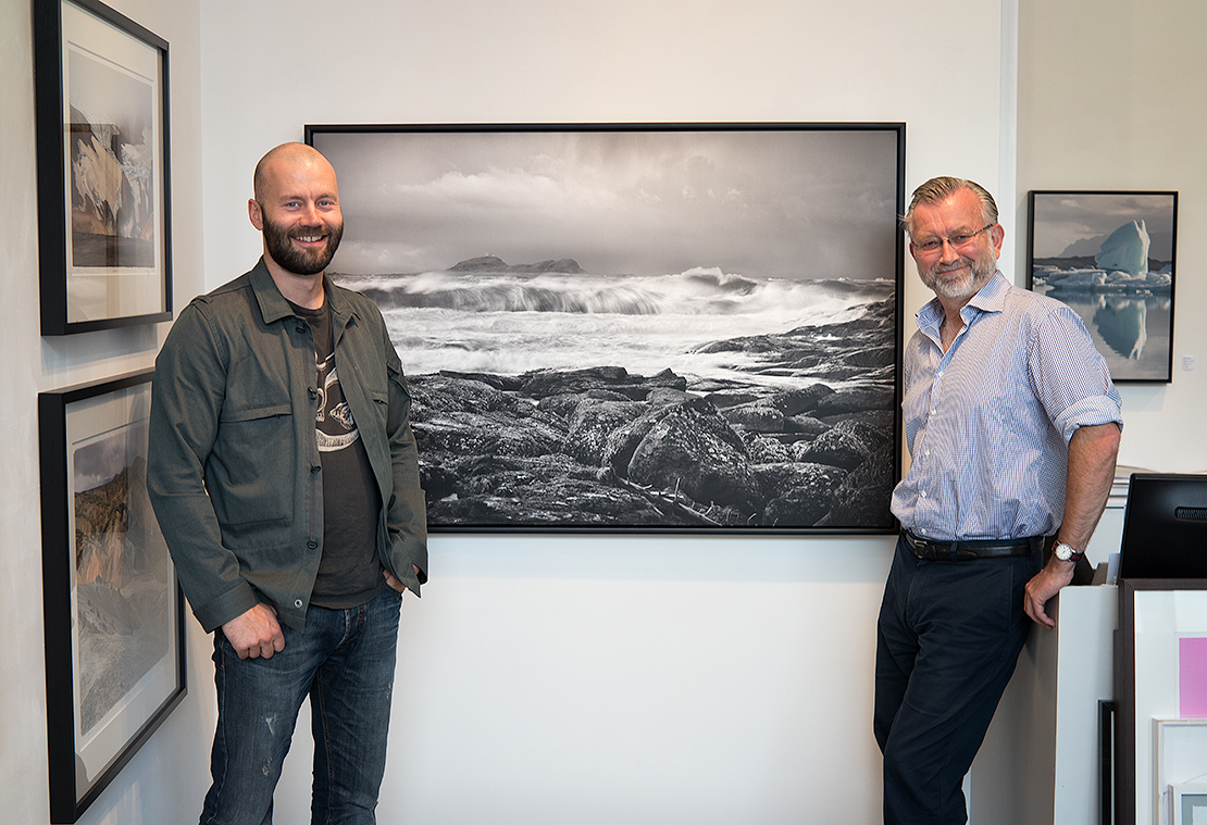 Atle Maurseth, owner of Galleri Allmenningen, and my self. From a previous collective exhibition.